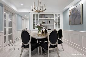 轻奢85平美式二居餐厅设计效果图二居美式经典家装装修案例效果图