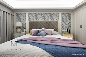 质朴70平美式二居卧室布置图二居美式经典家装装修案例效果图