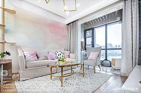 """""""粉""""高级的精装房客厅设计图"""