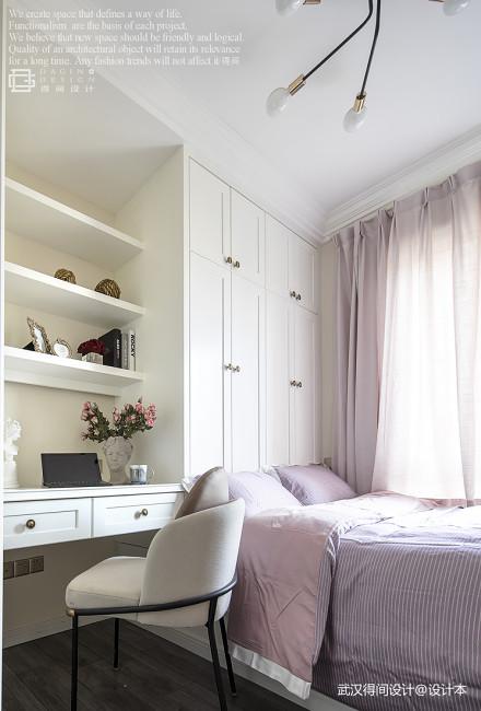 轻奢89平法式三居卧室设计案例卧室