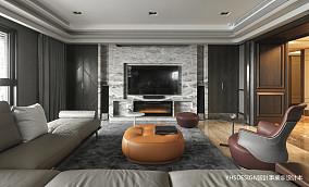 明亮720平新古典别墅客厅实拍图