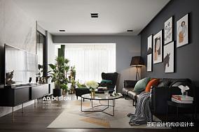 质朴150平现代三居客厅装修效果图