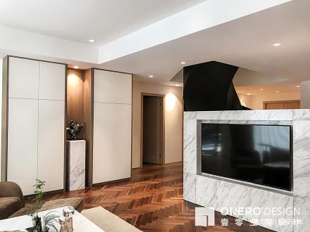 201940平现代复式客厅设计效果图