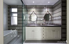 精美46平美式复式卫生间效果图复式美式经典家装装修案例效果图