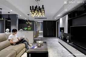 简洁92平现代三居客厅布置图三居现代简约家装装修案例效果图