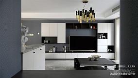 悠雅130平现代三居设计美图三居现代简约家装装修案例效果图
