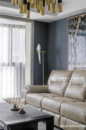 优雅75平现代三居客厅实拍图三居现代简约家装装修案例效果图