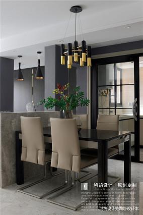 简洁86平现代三居餐厅装修设计图三居现代简约家装装修案例效果图