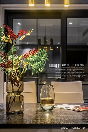 大气115平现代三居餐厅装修图片三居现代简约家装装修案例效果图