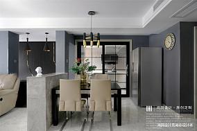 优雅129平现代三居餐厅实景图片三居现代简约家装装修案例效果图