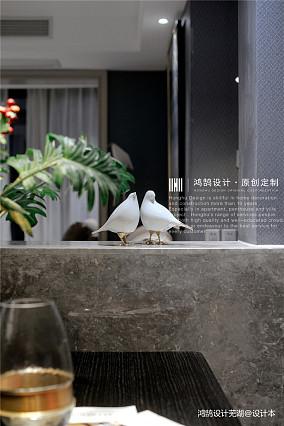 华丽97平现代三居餐厅装饰图片三居现代简约家装装修案例效果图