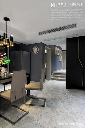 华丽77平现代三居餐厅设计案例三居现代简约家装装修案例效果图