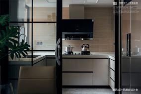 优雅76平现代三居厨房装修案例三居现代简约家装装修案例效果图