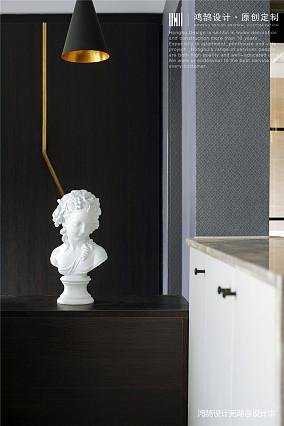 典雅117平现代三居过道设计美图三居现代简约家装装修案例效果图