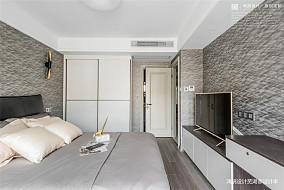 宁静致远现代卧室设计三居现代简约家装装修案例效果图