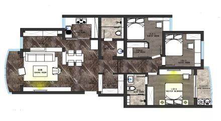 温馨85平现代三居装修图