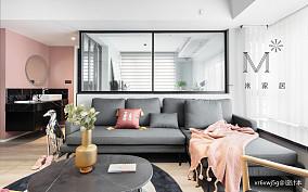平现代二居客厅布置图二居现代简约家装装修案例效果图
