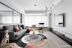 明亮140平现代二居案例图二居现代简约家装装修案例效果图