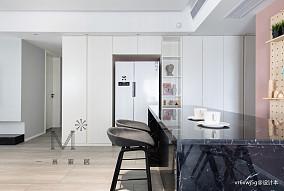 140m²现代北欧餐厅储物柜设计二居现代简约家装装修案例效果图