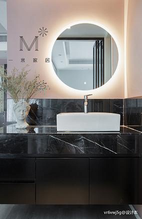 平现代二居卫生间装饰美图二居现代简约家装装修案例效果图