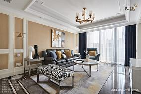 华丽99平美式四居客厅设计图四居及以上美式经典家装装修案例效果图