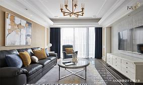 优美142平美式四居客厅设计案例四居及以上美式经典家装装修案例效果图