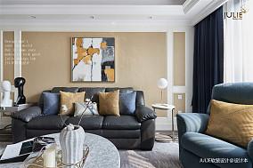 质朴101平美式四居客厅设计图四居及以上美式经典家装装修案例效果图