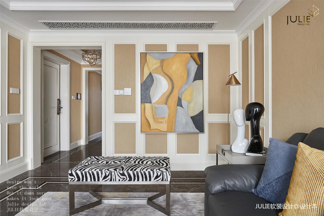 悠雅149平美式四居客厅装饰美图四居及以上美式经典家装装修案例效果图