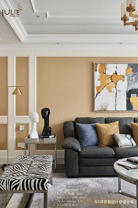 悠雅145平美式四居客厅设计图四居及以上美式经典家装装修案例效果图