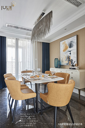 精美95平美式四居餐厅装潢图四居及以上美式经典家装装修案例效果图