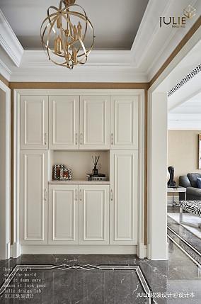 平美式四居玄关装饰图四居及以上美式经典家装装修案例效果图