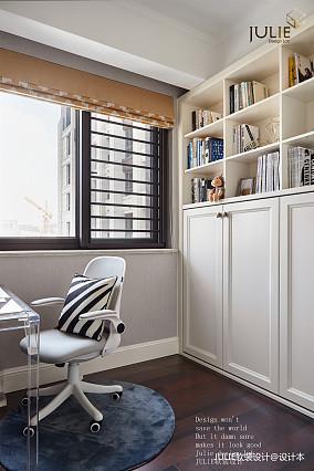 优雅117平美式四居书房实景图片四居及以上美式经典家装装修案例效果图