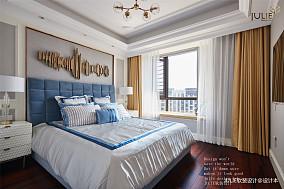 典雅130平美式四居卧室实景图片四居及以上美式经典家装装修案例效果图