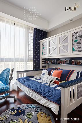 简洁131平美式四居儿童房设计案例四居及以上美式经典家装装修案例效果图