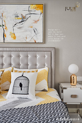 大气109平美式四居卧室装修美图四居及以上美式经典家装装修案例效果图