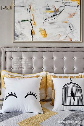 精致125平美式四居卧室实景图片四居及以上美式经典家装装修案例效果图