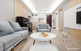 优美65平北欧二居设计美图二居北欧极简家装装修案例效果图