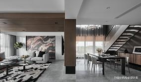 精致300平现代别墅客厅实景图
