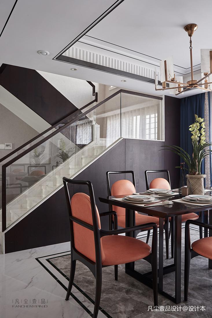 悠雅74平中式复式餐厅装修效果图厨房中式现代餐厅设计图片赏析