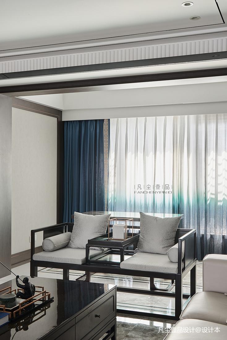 大气52平中式复式客厅装修图客厅中式现代客厅设计图片赏析
