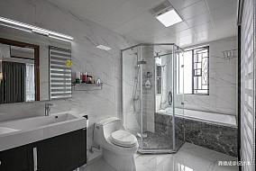 优雅773平中式别墅卫生间装饰美图
