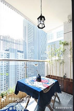 悠雅54平日式二居阳台实景图
