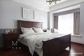 优雅109平美式四居卧室装饰美图四居及以上美式经典家装装修案例效果图