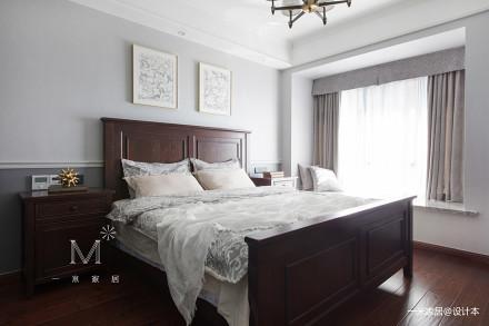 优雅109平美式四居卧室装饰美图