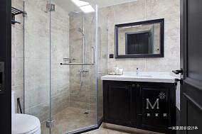 华丽134平美式四居卫生间装修图家装装修案例效果图