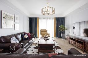 轻奢142平美式四居客厅设计图四居及以上美式经典家装装修案例效果图