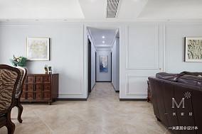 精致102平美式四居过道装潢图四居及以上美式经典家装装修案例效果图
