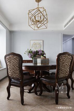 华丽113平美式四居餐厅美图四居及以上美式经典家装装修案例效果图