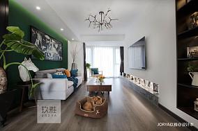 质朴120平简约四居客厅装修图四居及以上现代简约家装装修案例效果图