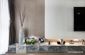 质朴110平简约四居客厅设计美图家装装修案例效果图